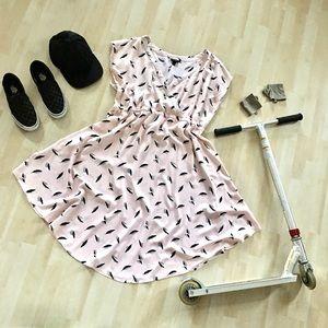 Torrid Feather Surplice Dress sleeveless baby pink